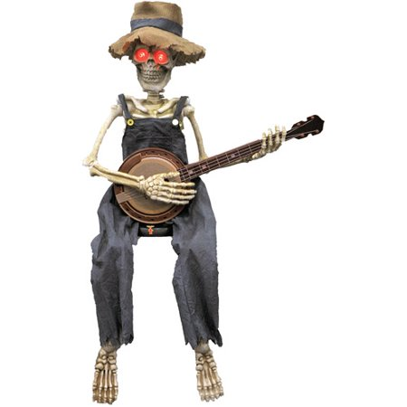 Skeleton Playing Banjo Halloween Accessory