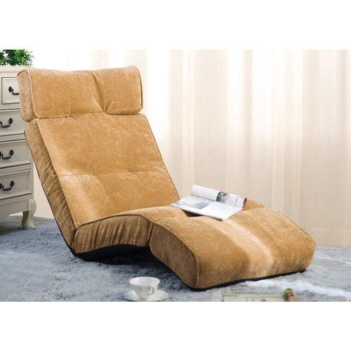 Merax Adjustable Floor Recliner Sofa Beige Walmart