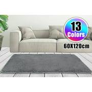 "Fluffy Floor Rug 23x47"" 13 Colors Modern Soft Anti-skid Shag Shaggy Area Rug Bedroom Living Dining Room Carpet Yoga Mat Child Play Mat"