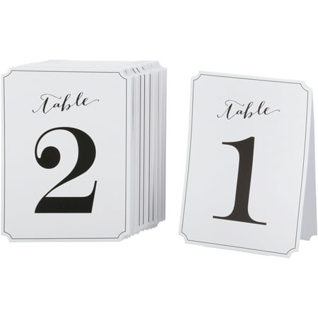 Gartner Studios Wedding Collection Table Numbers 12 ct Bag