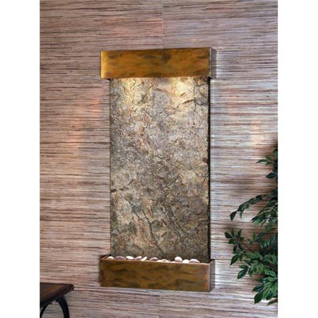 Adagio WCS1002 Whispering Creek Rustic Copper Green Natural Slate Wall Fountain