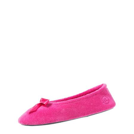 282b05ba9ad Isotoner Women s Classic Terry Ballerina Slipper With Isoflex - Best ...
