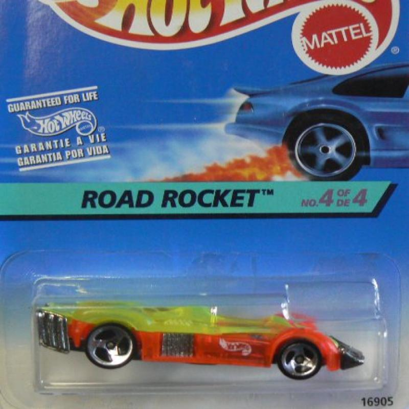 Hot Wheels Road Rocket on International Card No. 4 of 4 by