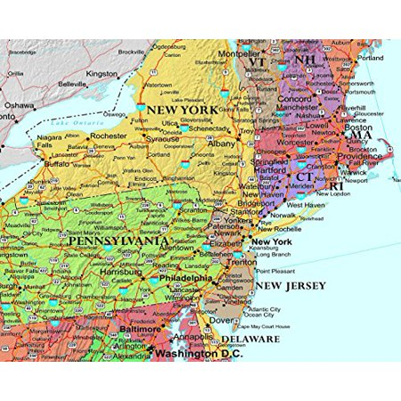X United States Classic Laminated Wall Map Poster Walmartcom - Us map poster walmart