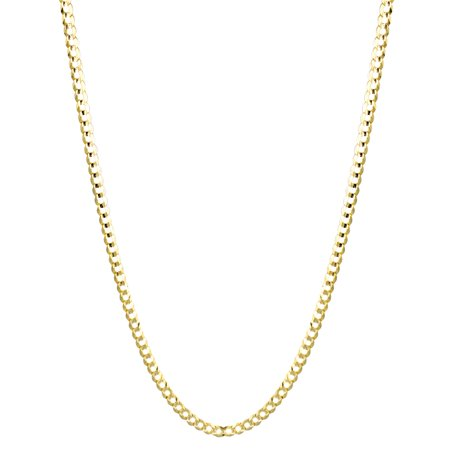 Solid 10K Yellow Gold Italy Cuban Curb Link Chain Necklace 2.8mm Wide 20 long with Lobster