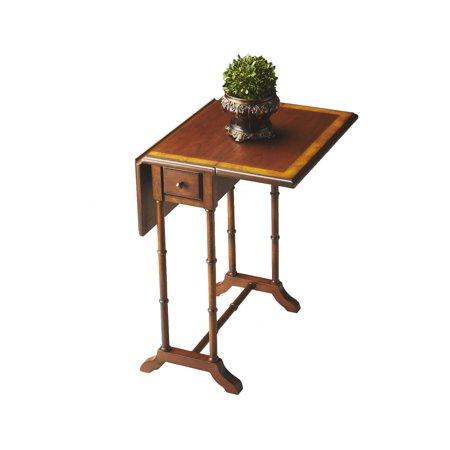 - Offex Transitional Rectangular Drop - Leaf Table Olive Ash Burl - Medium Brown