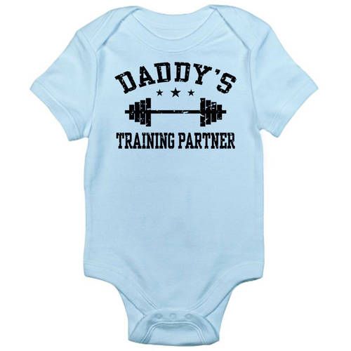 Daddy's Training Partner Infant Bodysuit - Baby Light Bodysuit
