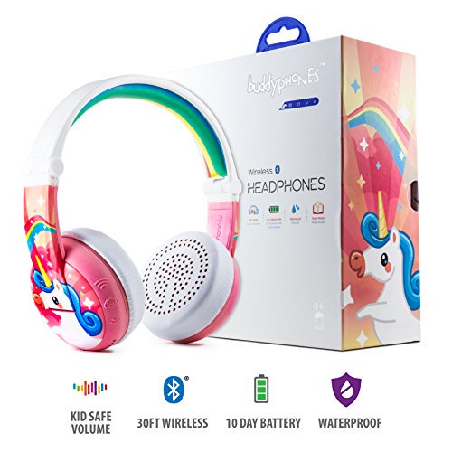 Wireless Bluetooth Headphones For Kids Buddyphones Wave Kids Safe Volume Limited To 75 85 Or 94 Db Foldable Waterpro Walmart Com Walmart Com
