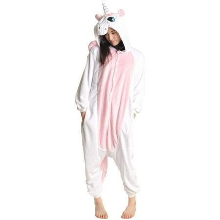 Angelina Unisex Plush Unicorn One-Piece Novelty Sleep/Lounge Wear (1-Pack)