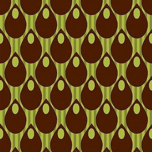 Creative Cuts Cotton Fabric, Drop Dot Print, Green