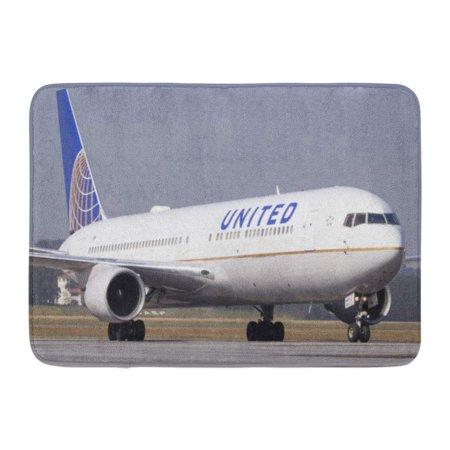 767 300 Airplane - GODPOK Plane Boeing 767 300 of United Airlines at Guarulhos International Airport Sao Paulo Brazil 05 16 Rug Doormat Bath Mat 23.6x15.7 inch