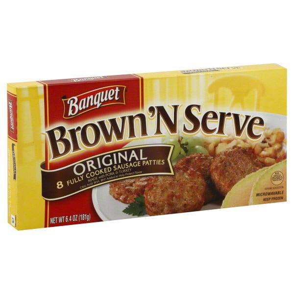 Banquet Brown 'N Serve Original Sausage Patties, 8 count