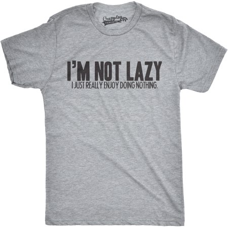 Mens Im Not Lazy I Like Doing Nothing Tshirt Funny Laziness Weekend - I Have Nothing To Wear For Halloween