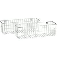 Home Style Mi: More Inside W2 Medium Wire Basket Bundle 2 ct Box