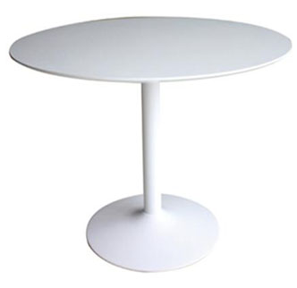 Coaster Company Lowry Mid Century Modern Round Dining Table, White