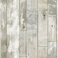 InHome Driftwood Peel & Stick Wallpaper