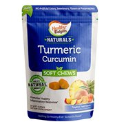 Healthy Delights Naturals Turmeric Curcumin Soft Chews Promotes Healthy Inflammation Tropical Fruit Flavor 90 Count