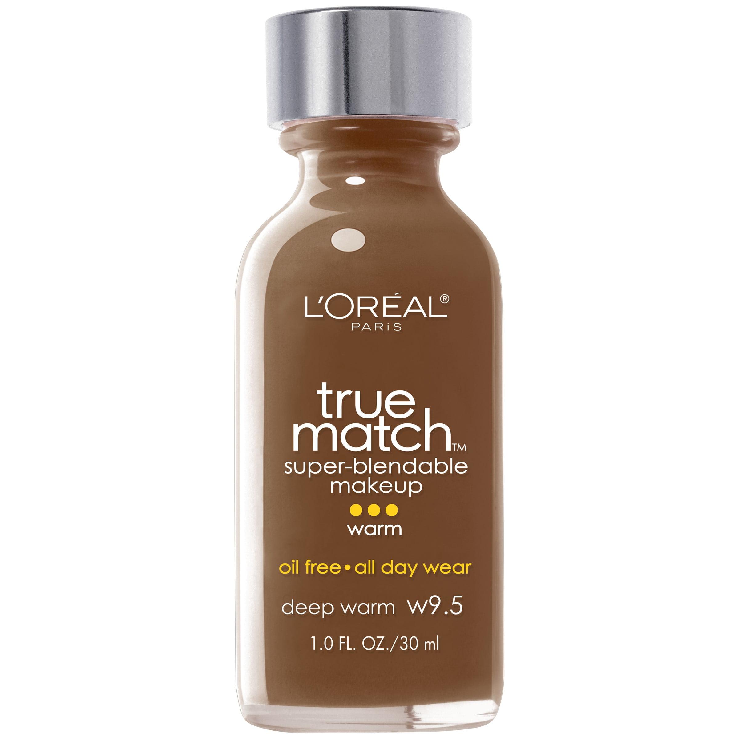 l oreal paris true match super blendable foundation w9 5 deep warm walmart com