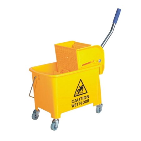 Small Mop Bucket with Wringer 5.2 Gallon (5 Gallon Wash Bucket)