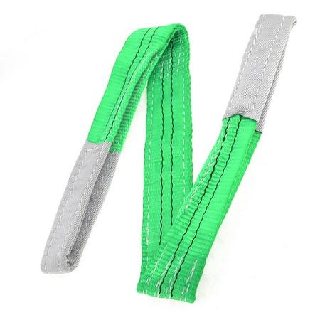 Unique Bargains Green 1M Length 50mm Width Eye to Eye Nylon Web Lifting  (Tough Nylon Web)