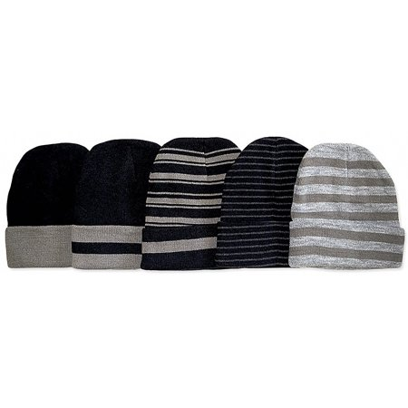 Tobeinstyle - ToBeInStyle Men s Pack of 6 Soft Stretchy Beanies -  Walmart.com 1bffee8439fc