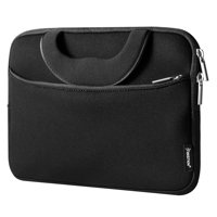"""Insten Shockproof Pouch Double Zipper Carry Bag Neoprene Soft Carrying Case with Accessory Pocket Extra Storage for 10"""" Laptop Notebook Tablet Tab - Black"""