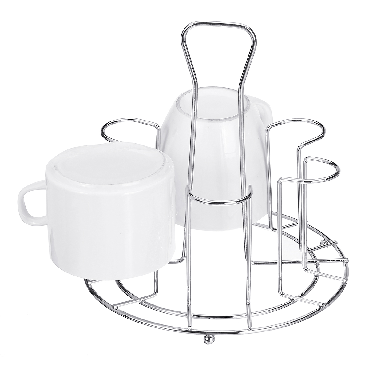 6 Mug Tree Holder Countertop Mug Tree Stand Metal Mug Holder For Home Kitchen Tea Coffee Cup Accessory Kitchen Organizer Walmart Canada