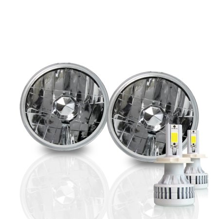 Project RA Diamond 5.75 H5001 H5006 Sealed Beam Housings + 60W EOS H4 LED Conversion (Sealed Beam Conversions)