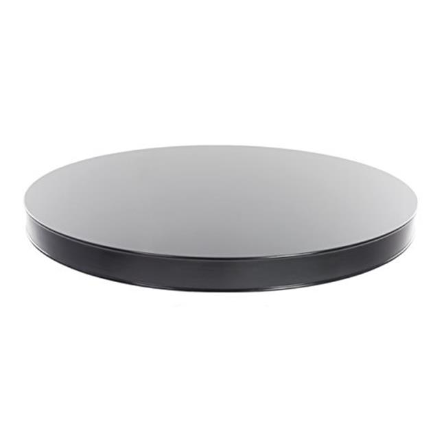 BBO Poker BBOLEVITYTOP Levity Matching Round Dining Top, Black Gloss by