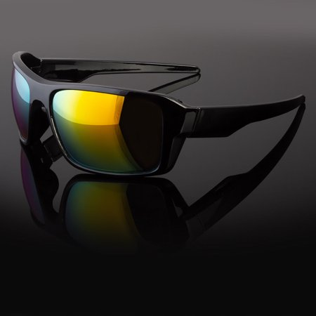 Wrap Around Glasses (Large Frame Men Sports Sunglasses Cycling Baseball Running Wrap Around Glasses)