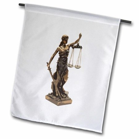 3dRose Attorney at Law Scales of Justice Polyester Garden Flag