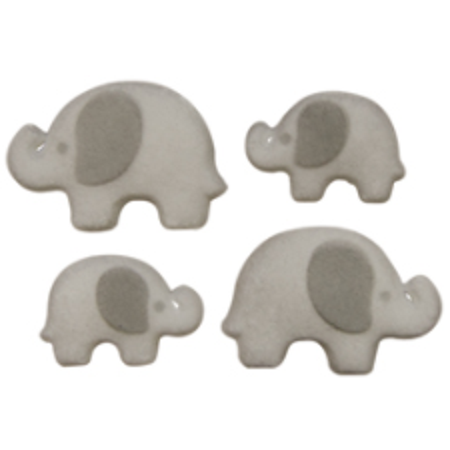 Set of 12 Elephant 1 1/4inch - 1 3/4inch Edible Sugar Cake & Cupcake Decoration Toppers (Elephant Cake Topper)