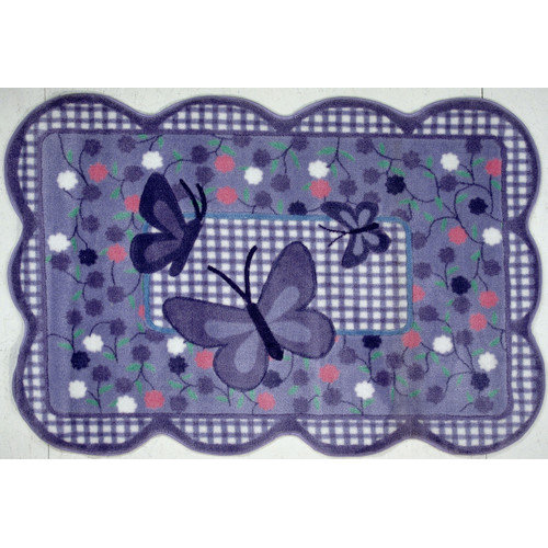 Fun Rugs Supreme Butterfly Purple Area Rug
