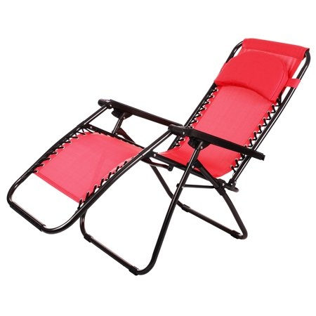 Ancheer Folding Zero Gravity Recliner Lounge Chair Outdoor Beach Chair Walm