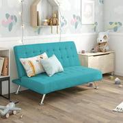 DHP Milo Kids Sofa Futon, Multiple Colors, (Teal)