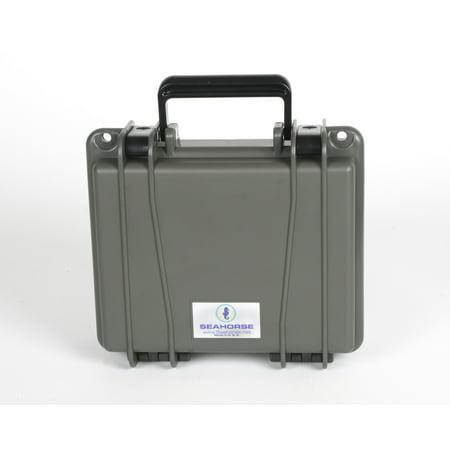 Seahorse 300 Protective Case, Gun Metal Gray (Plastic Gun Case)