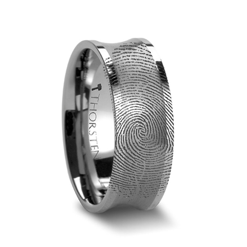 Tungsten Carbide High Polish Comfort Fit Concave Band Ring