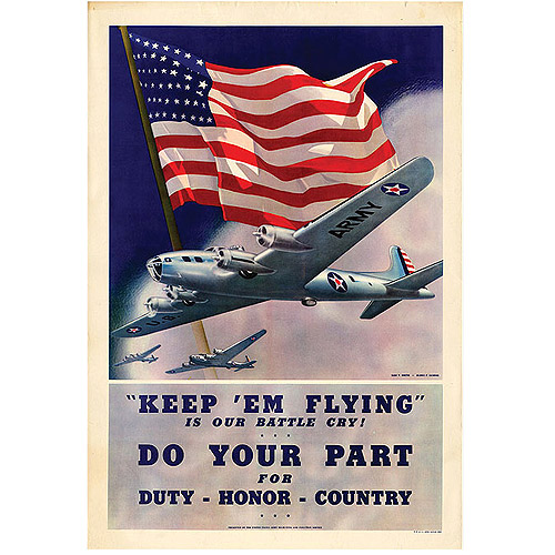 "Trademark Fine Art ""Keep 'em Flying"" Canvas Art, 24x32"