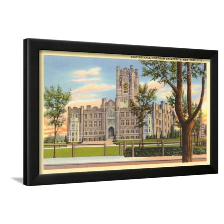 Keating Hall, Fordham University, New York City Framed Print Wall Art