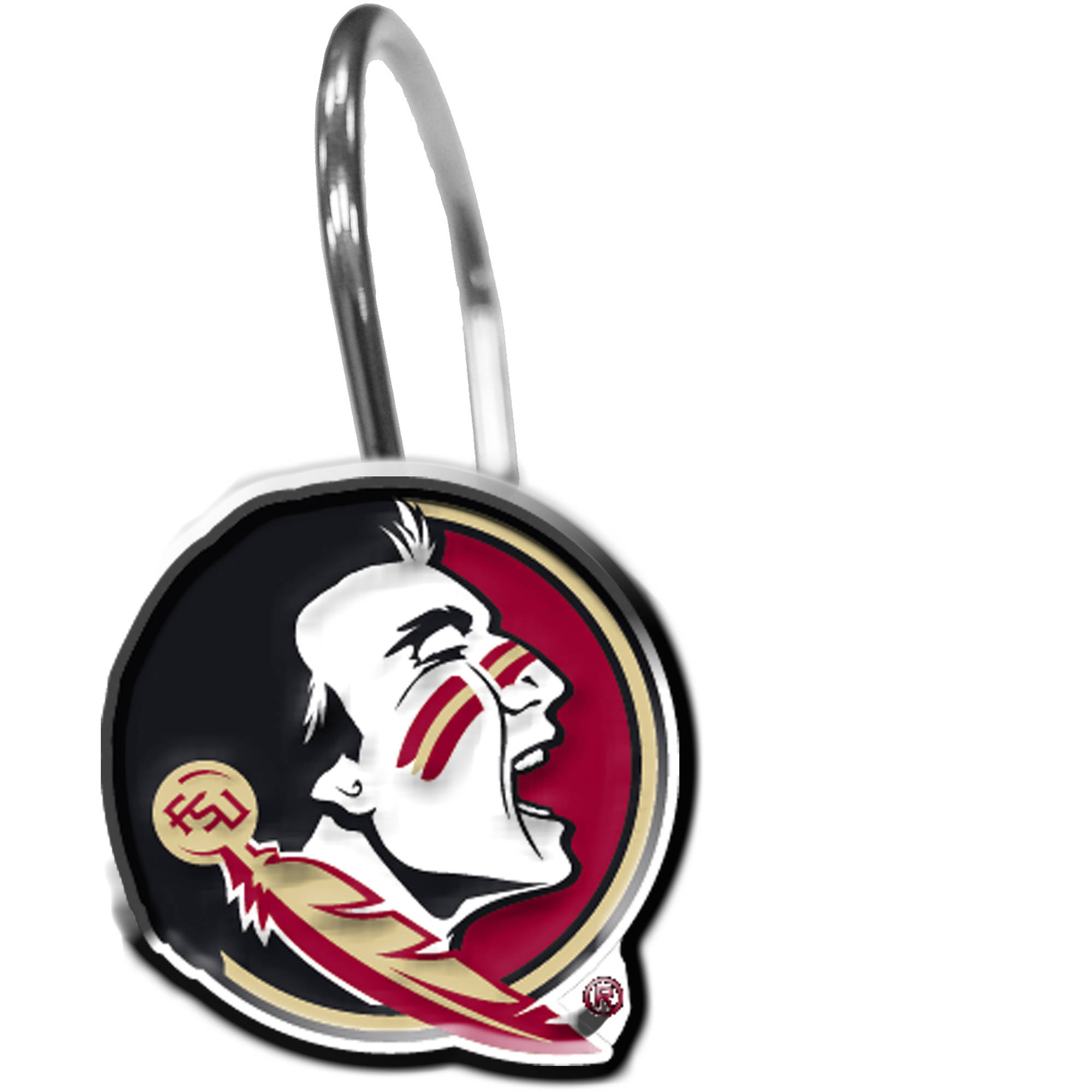 NCAA 12-Piece Shower Curtain Ring Set, Florida State