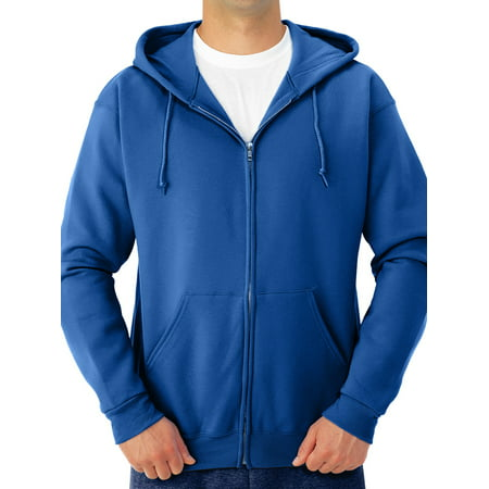 Big Men's Soft Medium-Weight Fleece Full Zip Hooded