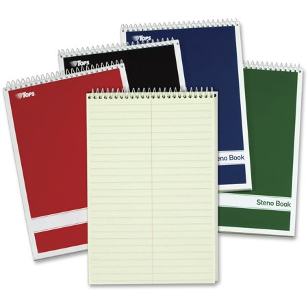 TOPS, TOP80221, Gregg-ruled Steno Book, 4 / Pack