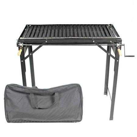 Santa Barbara Chile Roasters CRBBQ-ST Outdoor Portable BBQ Stand Grill with Carrying Case Grill Stands And Carts