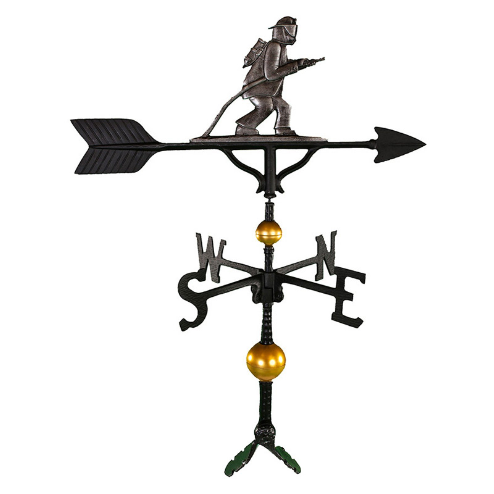 Deluxe Swedish Iron Fireman Weathervane 32 in. by Montague Metal Products