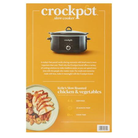 Crock-Pot 7 Quart Manual Slow Cooker, Black