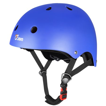 JBM Skateboard Helmet CPSC ASTM Certified Impact Resistance Ventilation for Kids, Adult Multi-Sports Cycling Skateboarding Scooter Roller Skate Inline Skating Rollerblading Longboard