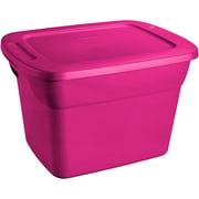 Sterilite 18 Gallon Tote Box- Fuchsia Supreme