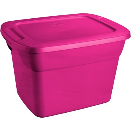 Sterilite 18 Gallon Tote Box Fuchsia Supreme Walmart Com