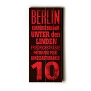 Artehouse LLC Berlin Transit by Cory Steffen Textual Art Plaque
