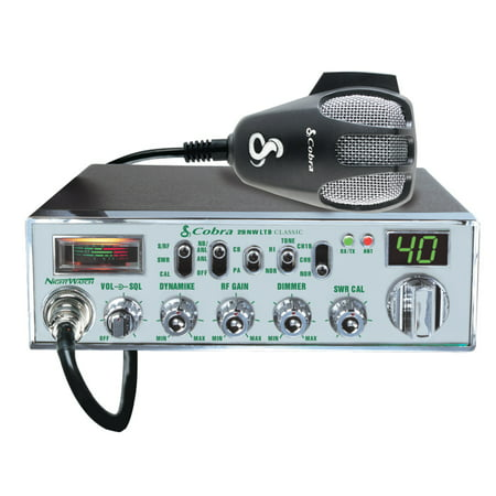 - Cobra Mobile CB Radio With Dynamike Gain Control And SWR Antenna Calibration And NightWatch